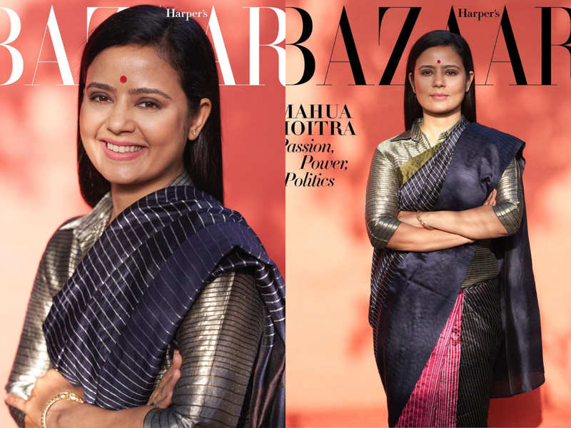 Mahua Moitra oozes elegance on the cover of a magazine