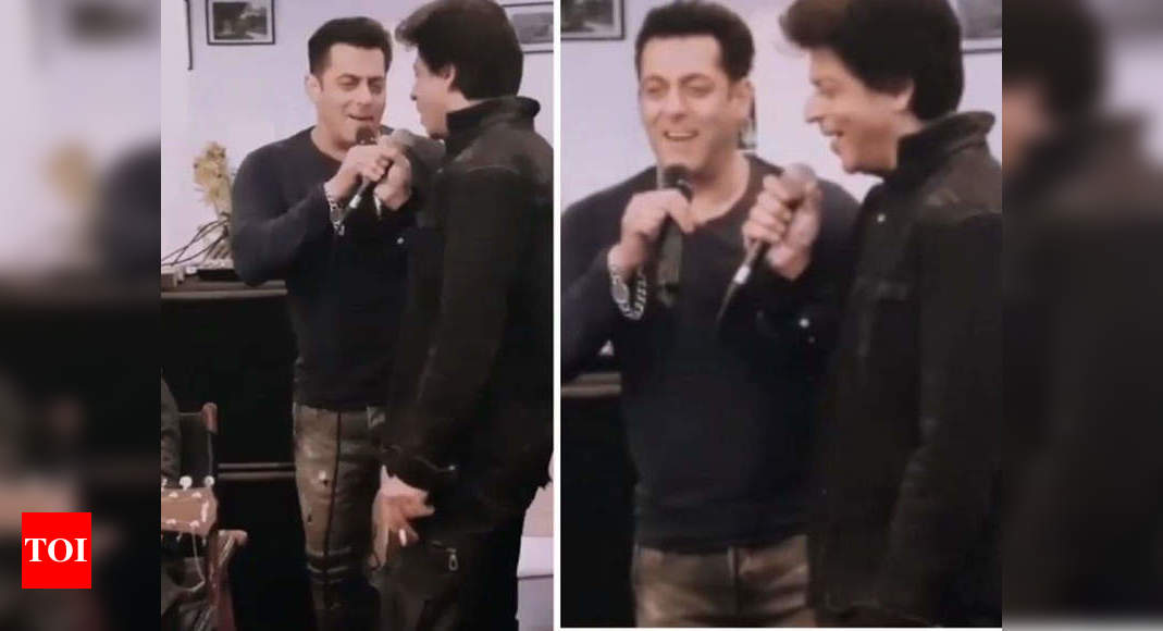 Rare video of Salman-SRK singing together