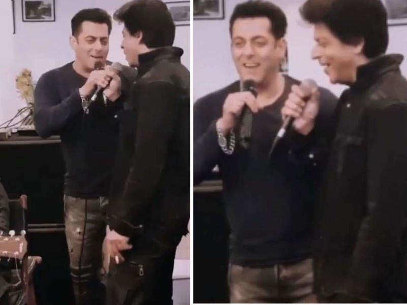 Throwback! THIS rare video of Salman Khan and Shah Rukh Khan singing 'Pyaar Hume Kis Mod Pe Le Aaya' is pure gold