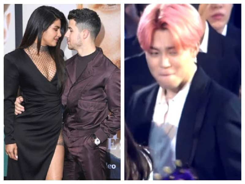 Watch: When Nick Jonas and Priyanka Chopra's impromptu kissing left BTS singer Jimin blushing