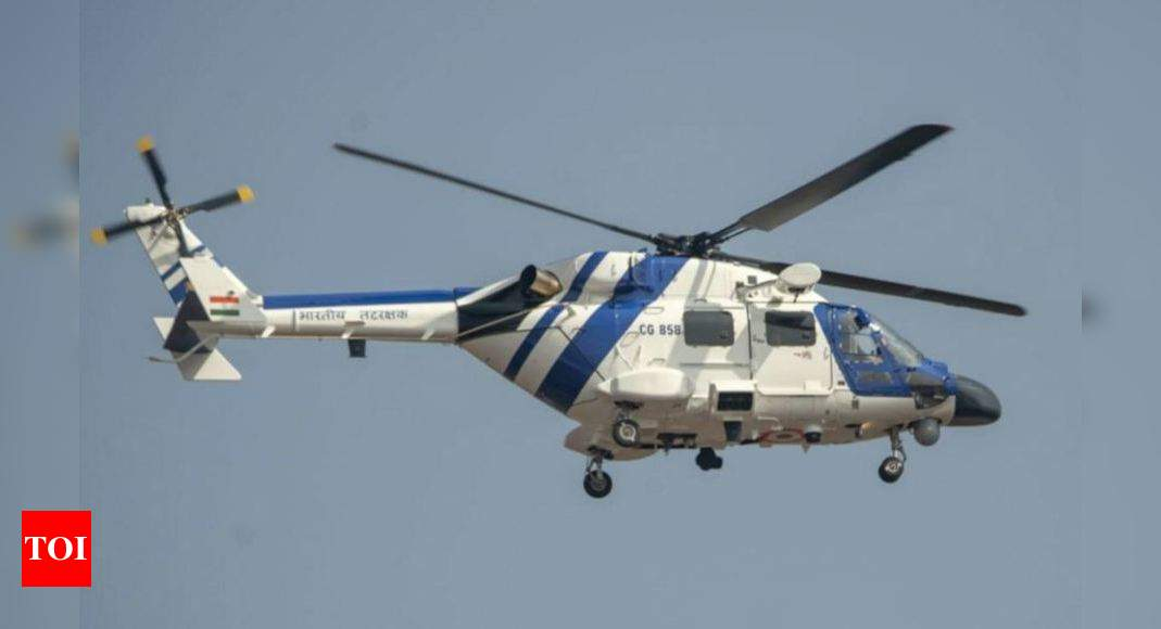 Coast Guard inducts 3 indigenously-built MK-III advanced light helicopters