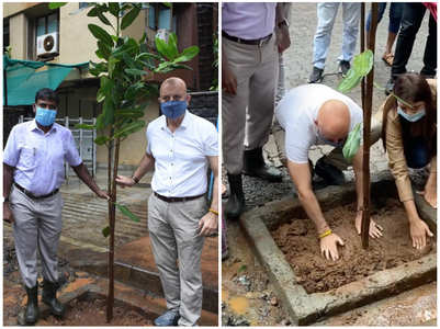 Anupam engages in a tree plantation campaign