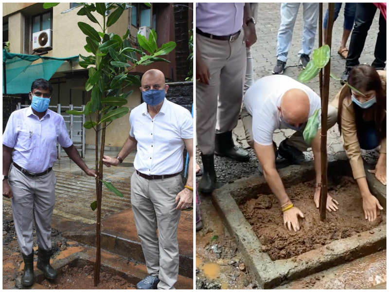 Anupam Kher expresses gratitude to Mumbai government as he actively engages in a tree plantation campaign
