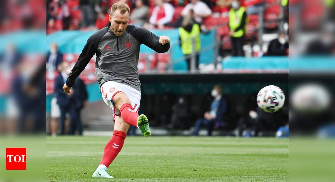 Christian Eriksen:  Denmark's Christian Eriksen still in hospital, condition is stable, says Danish FA | Football News – Times of India