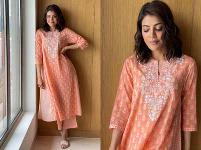 Kajal Aggarwal's kurta set has the perfect summer vibe