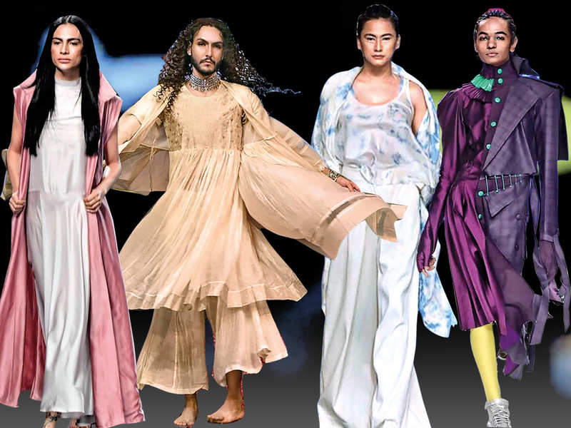 Trans model Kenny Awomi, Gagandeep Plaha, trans model Tia Jamir and Malkeet Singh (L to R)