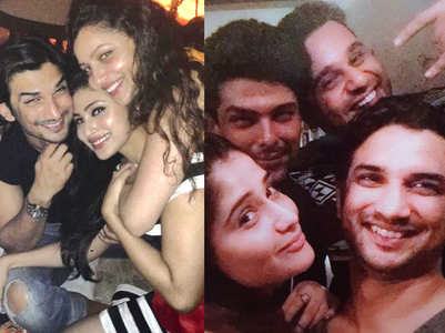Throwback pics of SSR with his friends