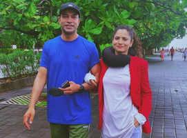 Ankita goes for walk with beau Vicky Jain