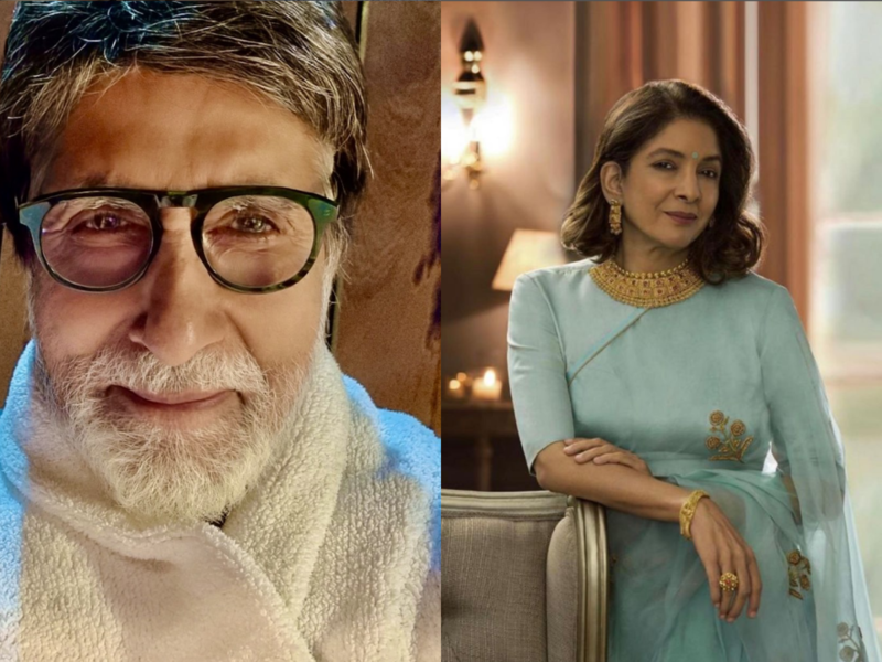 Amitabh Bachchan, Neena Gupta resume shoot for 'Goodbye'