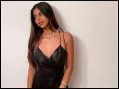 Suhana Khan stuns in a black leather dress
