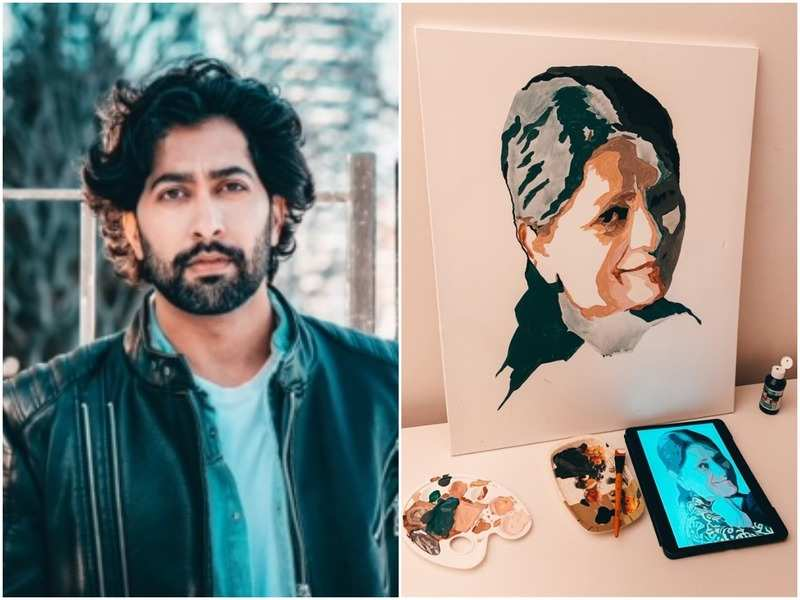 Ankur Bhatia and his mother's painting