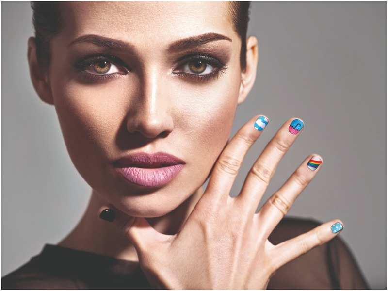 Monsoon-inspired nail art is a trend