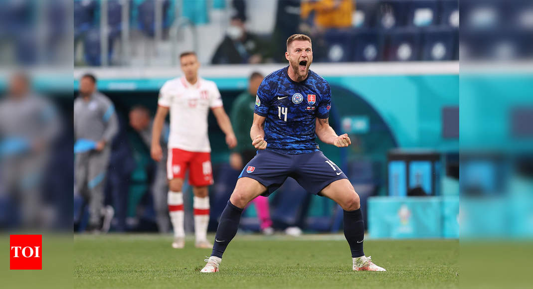 Milan Skriniar shines as Slovakia sink 10-man Poland in Euro