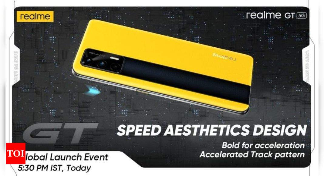 Realme GT 5G:  Realme GT 5G phone global launch today at 5:30pm: How to watch live stream – Times of India