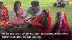 Tanvi Dogra shoots for Vat Savitri puja sequence