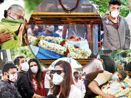 Friends and family bid Sanchari Vijay adieu on his final journey
