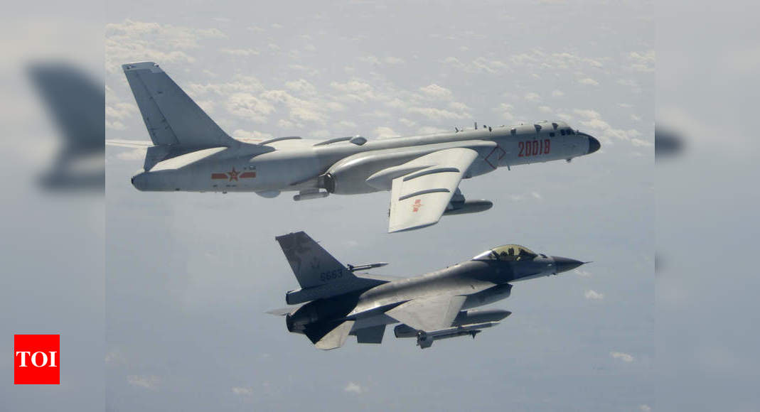 Taiwan reports largest incursion yet by Chinese air force – Times of India