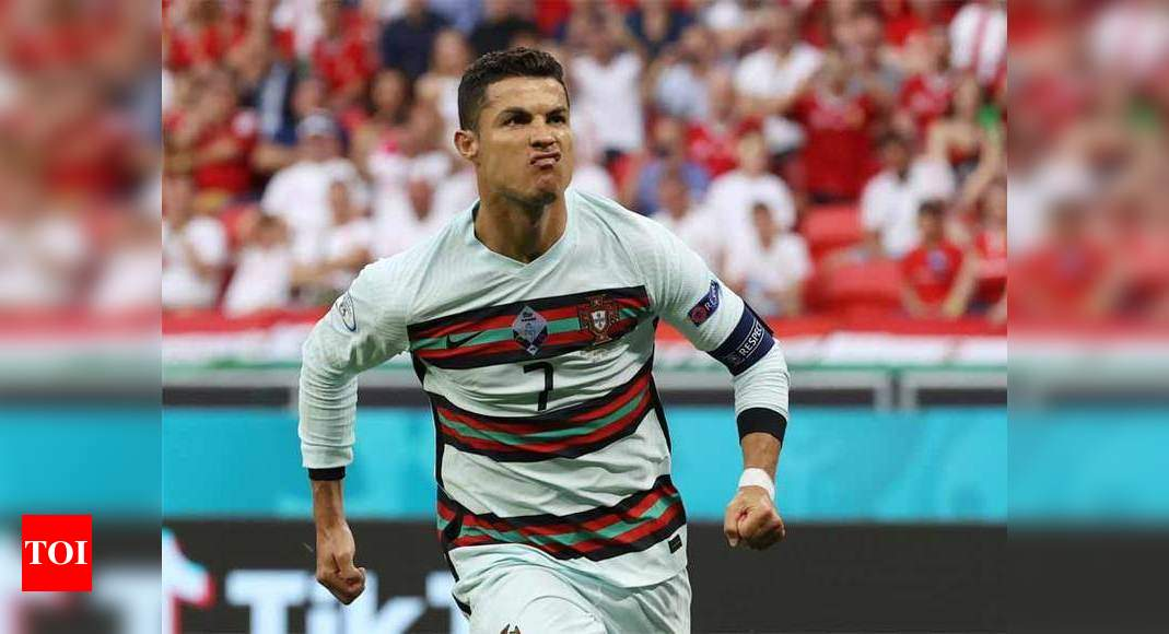 Ronaldo moves past Platini as all-time leading scorer at Euros | Football News – Times of India