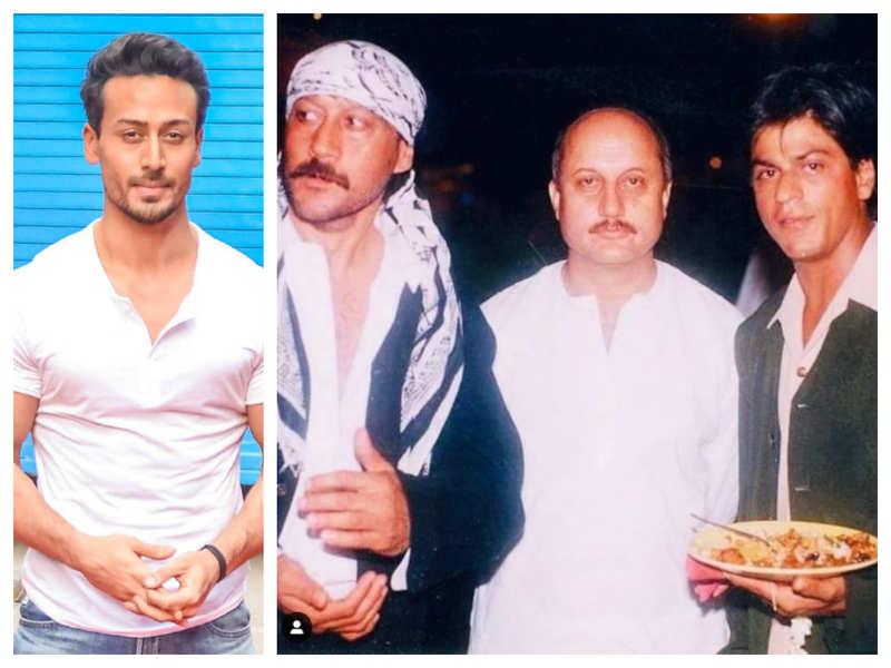 Tiger Shroff reacts to a rare throwback photo of Shah Rukh Khan, Jackie Shroff and Anupam Kher