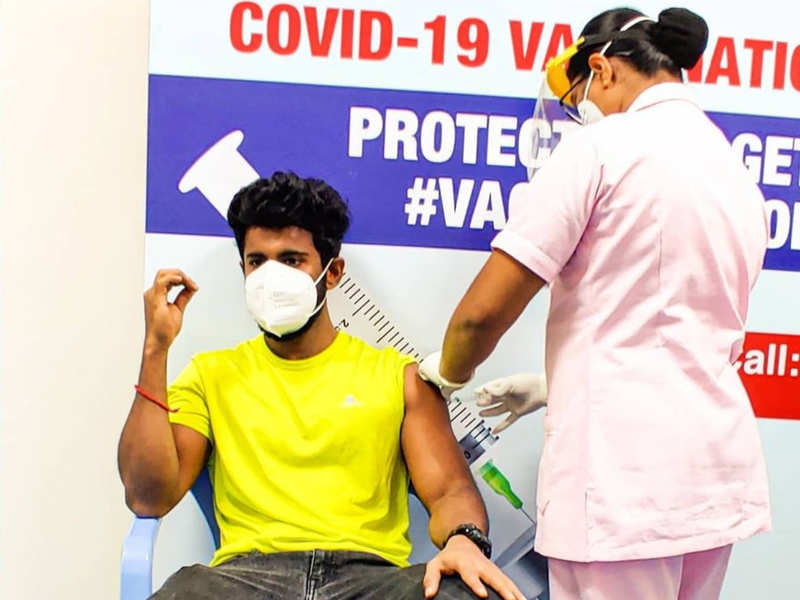 Master Mahendran gets vaccinated for COVID-19