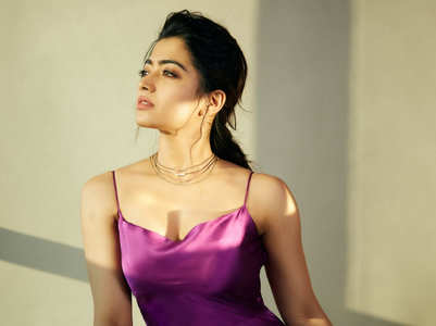 Rashmika Mandanna's stylish satin dresses