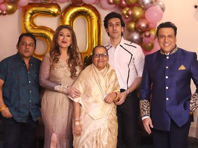 Govinda hosts Sunita's 50th birthday bash