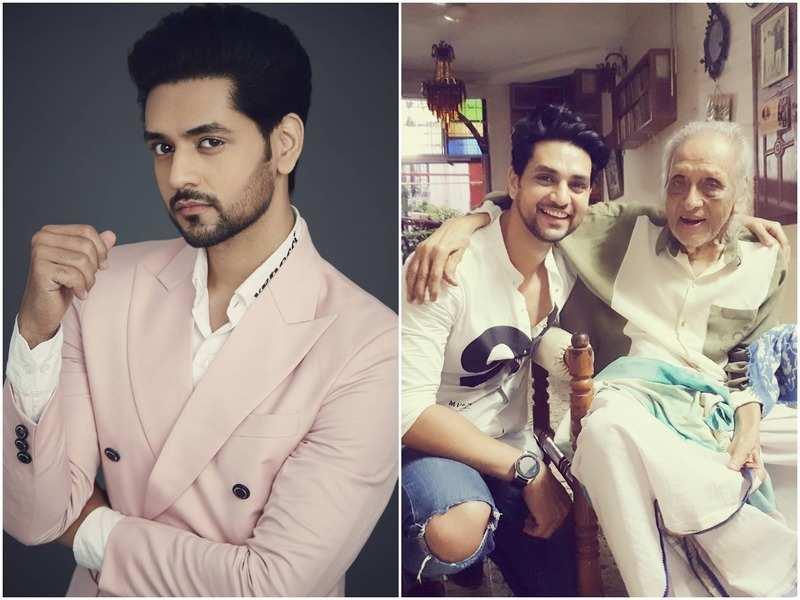 Shakti Arora; with his grandfather and Bollywood actor Chandrashekhar