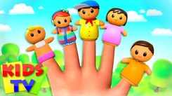 English Kids Poem: Nursery Song in English 'The Finger Family - Daddy Finger'