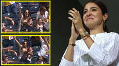 Anushka Sharma reacts to woman's one-hand catch while holding a baby