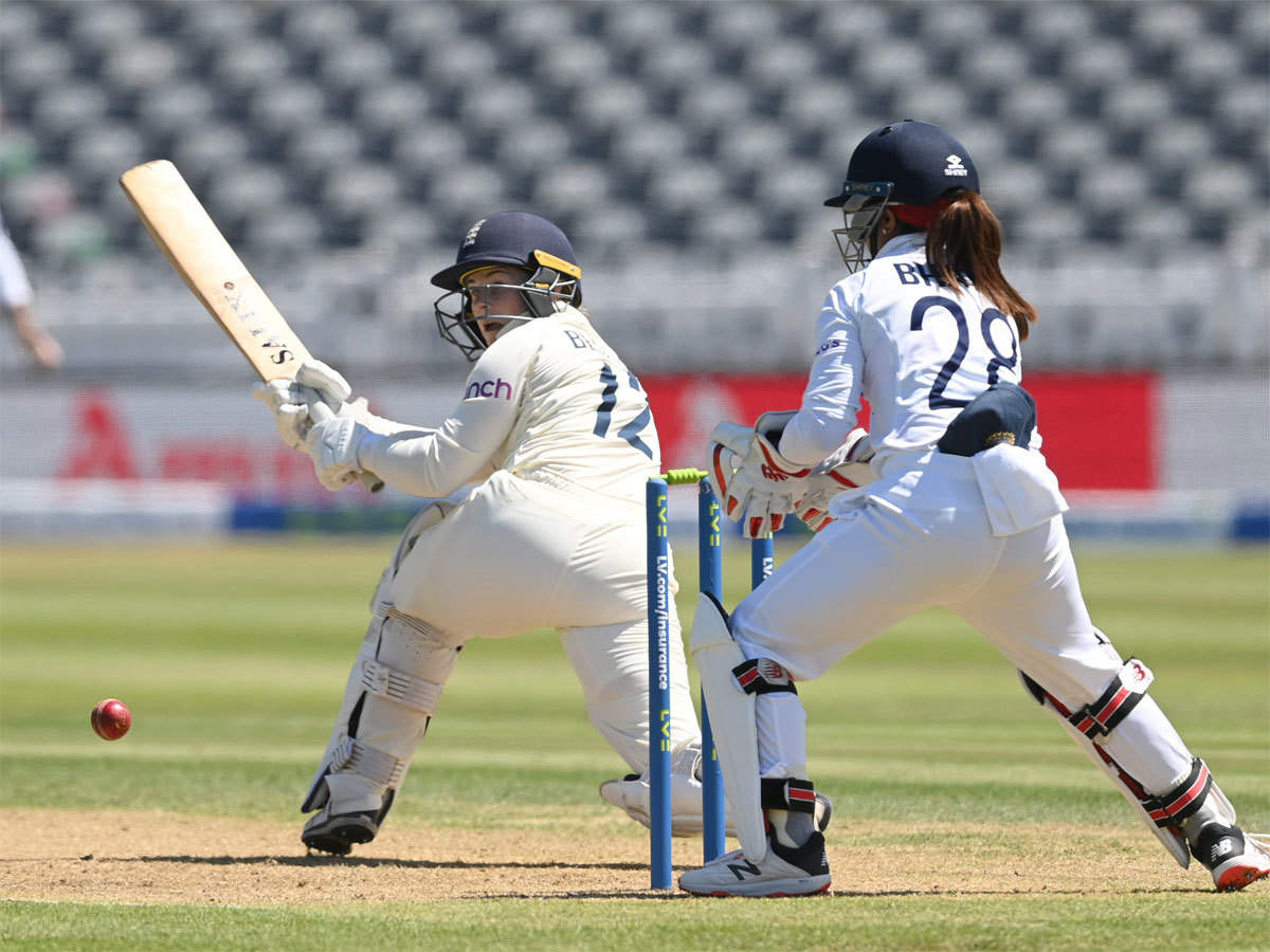 England Women make solid start in one-off Test against India   Cricket News  - Times of India