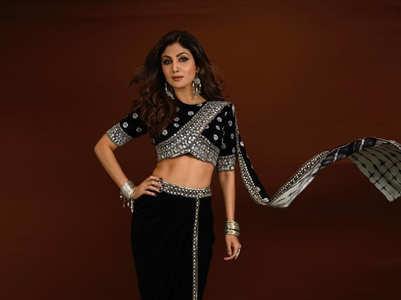 Shilpa Shetty looks stunning in all black boho-inspired sari