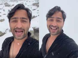 Shaheer enjoys snowfall in Ladakh; watch