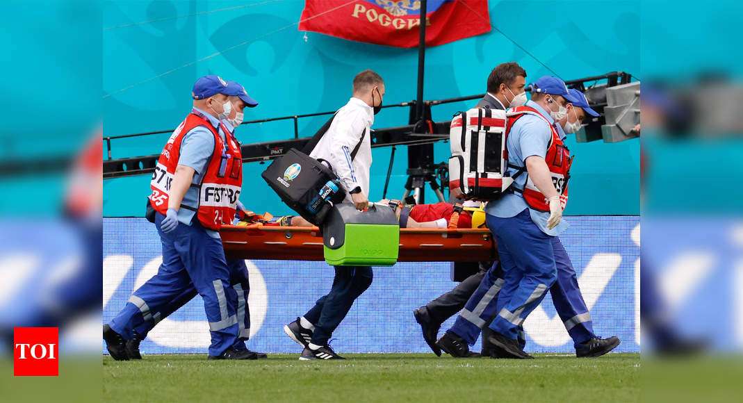 Russia's Mario Fernandes hospitalized after fall at Euro 2020
