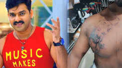 Fan gets Pawan Singh's face tattooed on his chest, leaves actor emotional