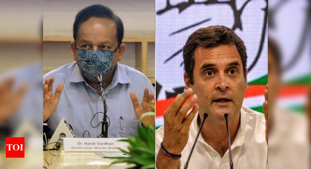 Rahul accuses govt of saving PM's image amid vaccine shortage; Harsh Vardhan hits back