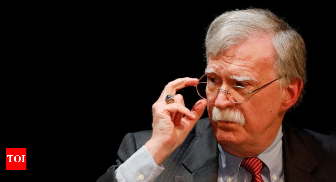 Lawyer: US drops lawsuit, grand jury probe over John Bolton book – Times of India