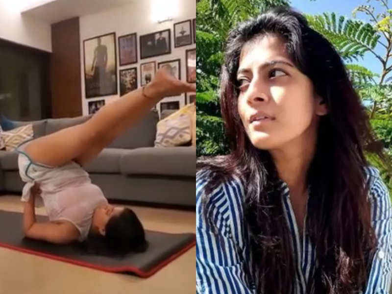 Varalaxmi's aces home workouts; but cautions not to try it without supervision