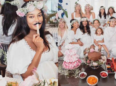 Lisa Haydon looks gorgeous at her baby shower