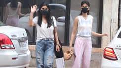 Maheep Kapoor, Shanaya Kapoor, Kriti Sanon snapped in Mumbai