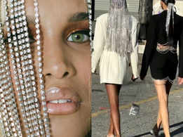 Are you up for rocking these long crystal hairpieces?