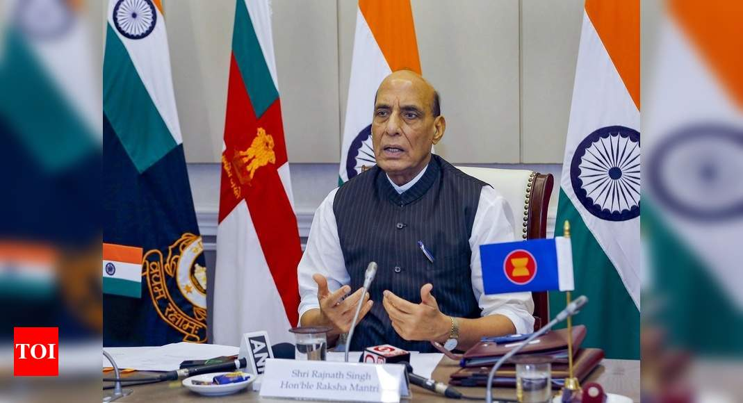 India 'priest' of world peace, but capable of replying to aggression: Rajnath thumbnail