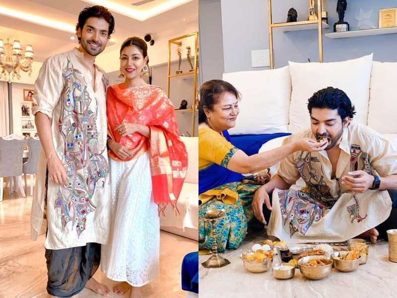 Gurmeet Choudhary gets pampered by wife Debina Bonnerjee's mother on the occasion of Jamai Shashthi