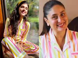 Kareena Kapoor or Sanjana Sanghi: Who wore the striped night suit better?