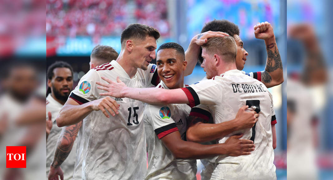 UEFA EURO 2020, Denmark vs Belgium Highlights: Belgium beat Denmark 2-1 to qualify for Round of 16  - The Times of India