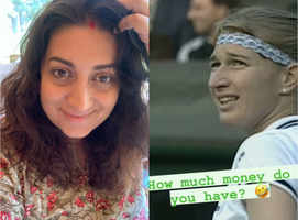 Smriti Irani proves she's a tennis fan; video