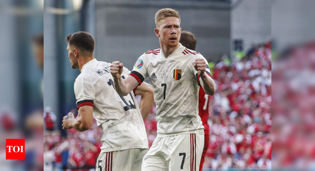 Euro 2020: De Bruyne scores winner as Belgium beat Denmark 2-1 to qualify for last 16   Football News – Times of India