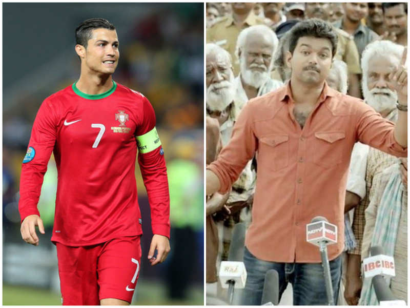 Cristiano Ronaldo's actions remind what Vijay did in Kaththi