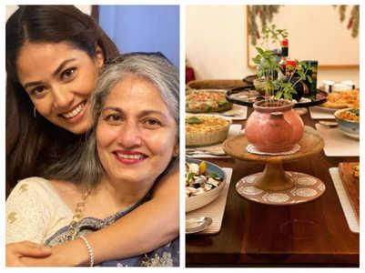 Mira Kapoor cooks lavish dinner for mom