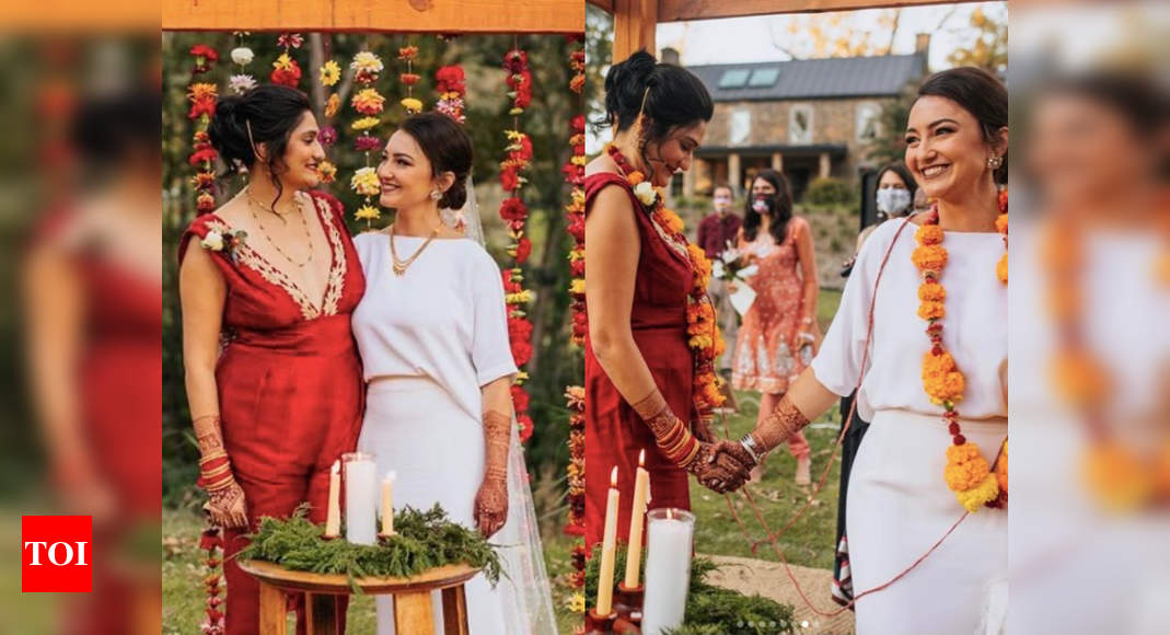 Stylish and unique same-sex desi wedding