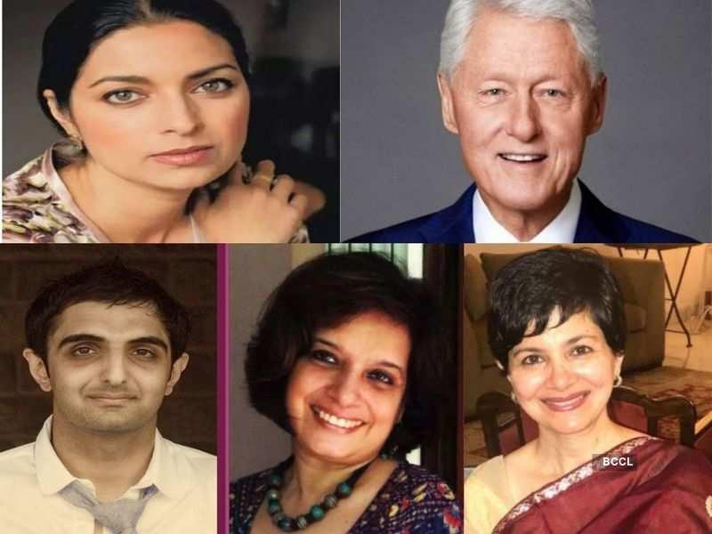 Photo: Jhumpa Lahiri/ Facebook; Bill Clinton/ Twitter; Sunjeev Sahota/ Penguin India; Kavita Kane; Jahnavi Barua/ Instagram
